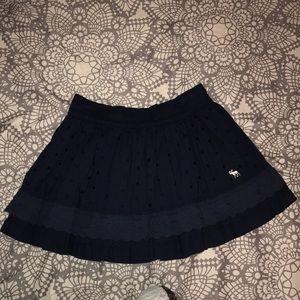 Abercrombie & Fitch navy ruffle mini skirt M